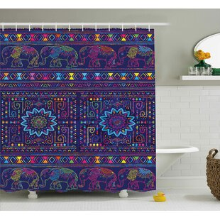 Alessandra Middle Eastern Persia Shower Curtain + Hooks