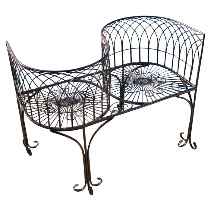 design toscano tete a tete kissing metal garden bench reviews