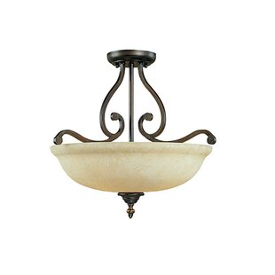 Beau 3-Light Semi-Flush Mount by Fleur De Lis Living
