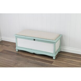 Atka Wood Storage Bench by Beachcrest Home Comparison