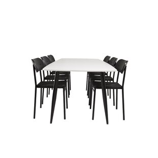 Huckaby Dining Set With 6 Chairs By Mercury Row