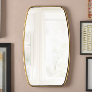 Rectangle Gold Metal Wall Mirror