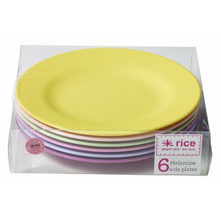8 Melamine Round Side Plate (Set of 6)