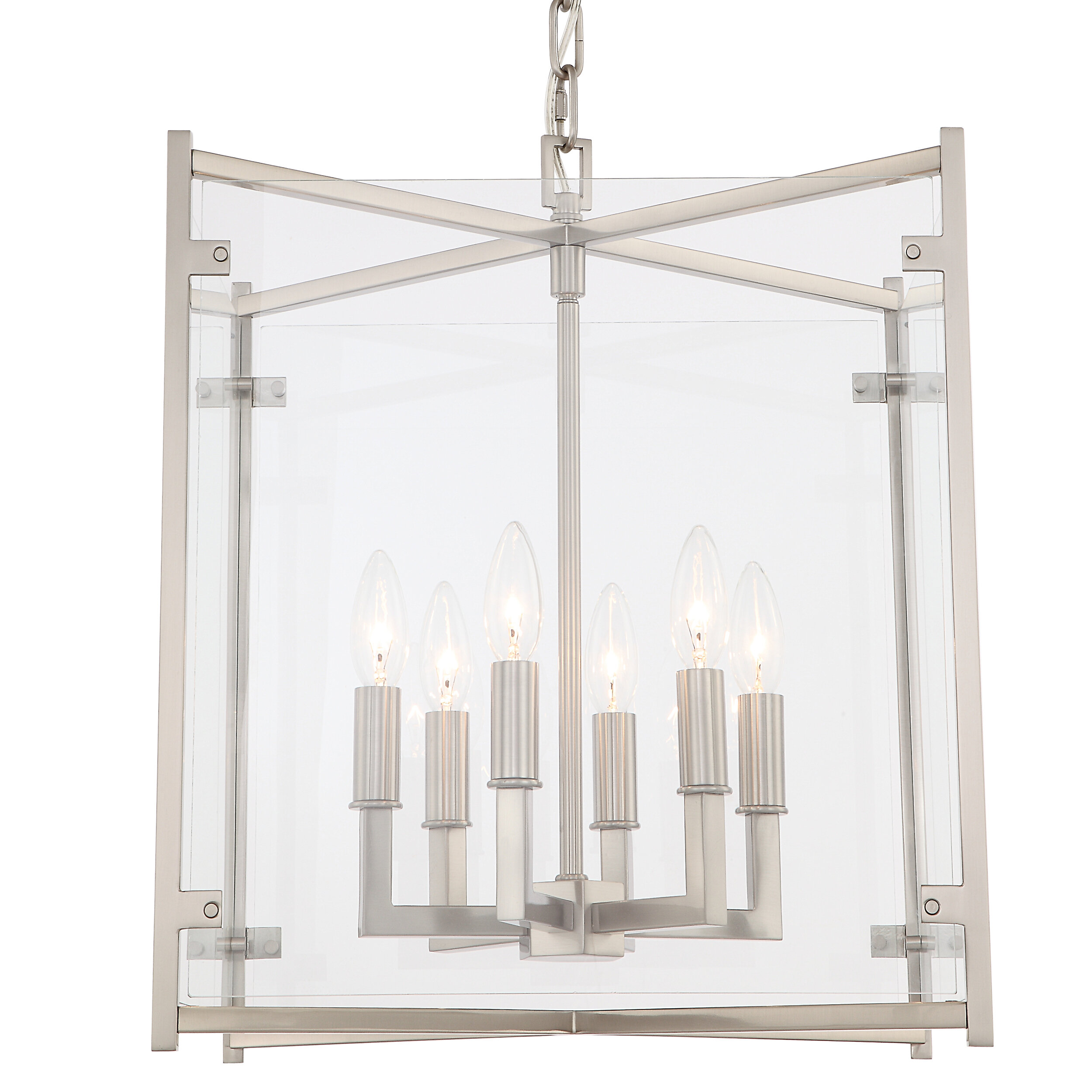 Alcott Hill Lechner 6 Light Candle Style Square Rectangle Chandelier Wayfair