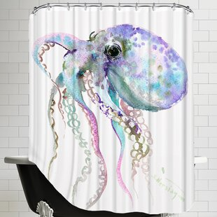 Octopus Single Shower Curtain