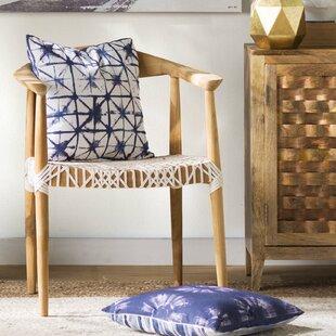 Mistana Albertina Genuine Woven Leather Dining Chair