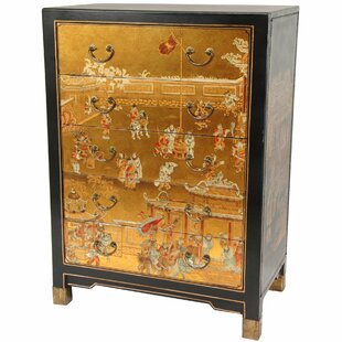 Jacobsen Hand Painted 5 Drawer Chest by World Menagerie