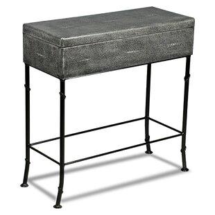 Alcott Hill Doran Leather Shagreen End Table