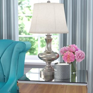 Inexpensive Mae Glass and Metal 26.5 Table Lamp By House of Hampton