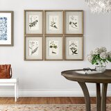 'Floral Botanical Study' by Grace Feyock - 6 Piece Picture Frame Graphic Art Print Set on Paper