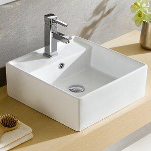 Bathroom Sinks Square square bathroom sinks you'll love | wayfair