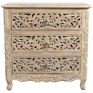 Buena Park 3 Drawer Nightstand by Bungalow Rose