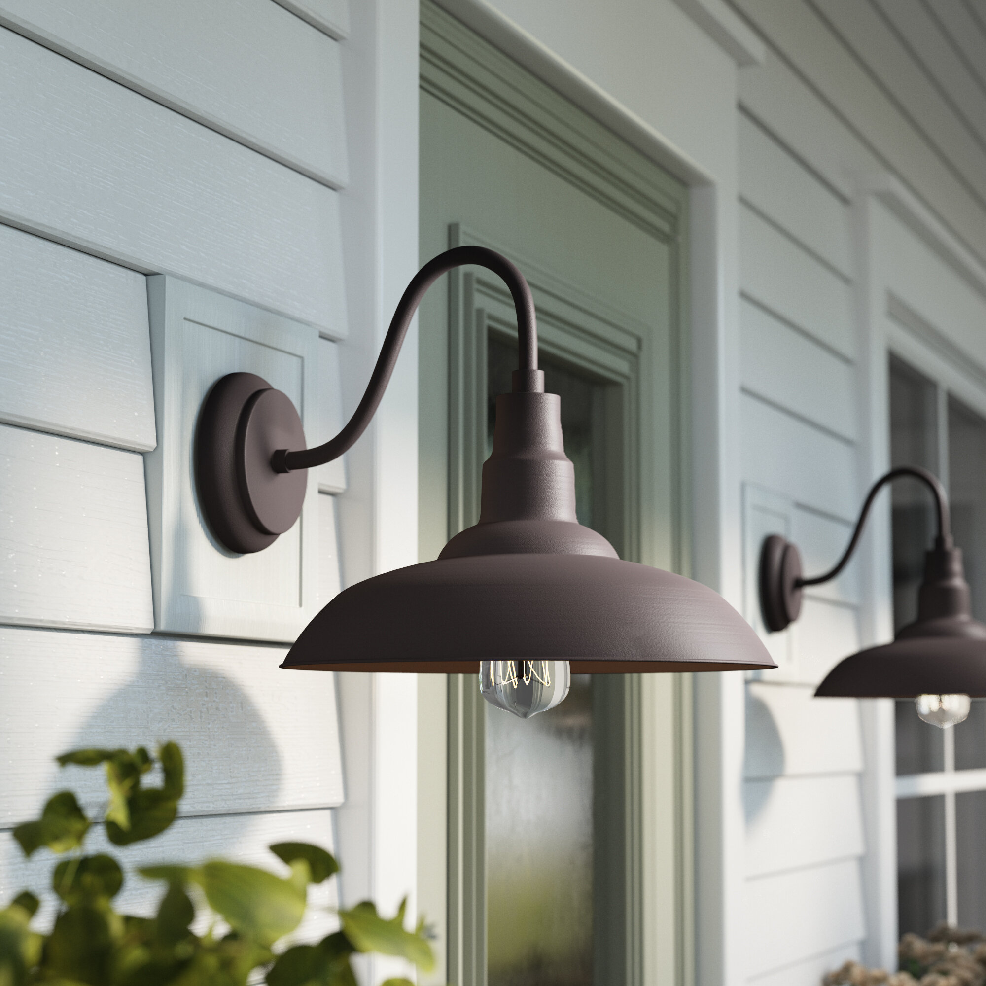 Gracie Oaks Brummett Outdoor Barn Light Reviews Wayfair Ca