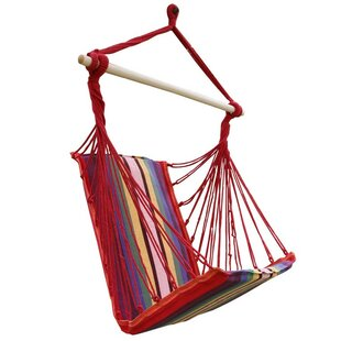 Reynold Cotton Fabric Hanging Chair Hammock by Winston Porter 2019 Sale