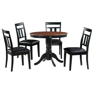 Dahle 5 Piece Solid Wood Dining Set