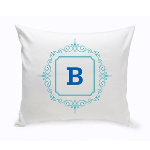 Initial Motif Cotton Throw Pillow