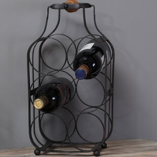 Fleur De Lis Living Lorsworth Metal 6 Bottle Tabletop Wine Rack