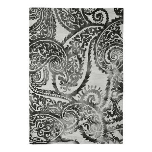 Reviews Wool Floral Hand-Tufted Ivory/Black Area Rug By Eastern Weavers