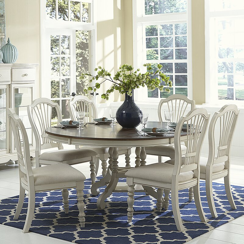 Extending Dining Room Tables dalton round extending dining table & reviews | birch lane