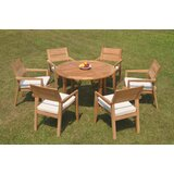 Dorcheer 7 Piece Teak Dining Set