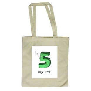 High Five Tote Bag By Happy Larry