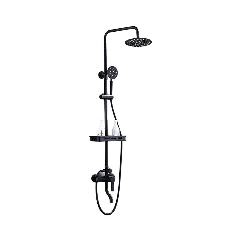 Fontanashowers Milan Thermostatic Volume Control Complete Shower System With Rough In Valve Wayfair