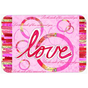 Love Is a Circle Valentine's Day Glass Cutting Board