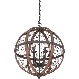 wire cage light fixtures antique campeaux cage 6light chandelier wire wayfair