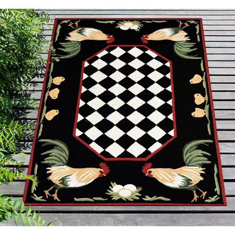 August Grove Treport Geometric Handmade Tufted Black Indoor Outdoor Area Rug Reviews Wayfair