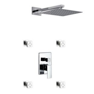 Rebrilliant Cahoon Diverter Rain Shower Head Complete Shower System