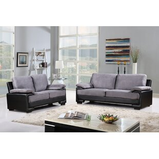 Warner Leather 2 Piece Living Room Set by Ebern Designs