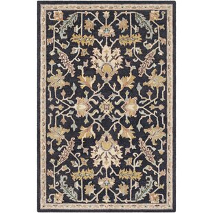 Inexpensive Greater Taree Hand Hooked Wool Black/Khaki Area Rug By Alcott Hill