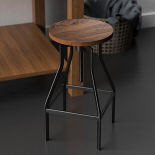 Obyrne Adjustable Height Swivel Bar Stool by Williston Forge