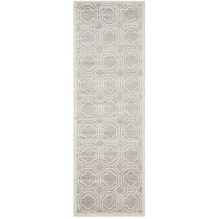 Maritza Power Loomed Gray/Ivory Indoor/Outdoor Area Rug