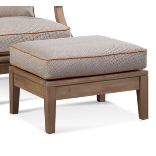Messina Outdoor Teak Ottoman with Sunbrella Cushions by Braxton Culler