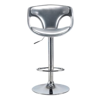 Brisa Mid Century Modern Adjustable Height Swivel Bar Stool