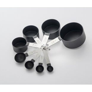 8 Piece Stainless Steel/Plastic Measuring Spoon/Cup Set