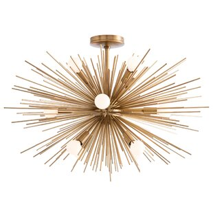 Zanadoo 12-Light Semi Flush Mo..