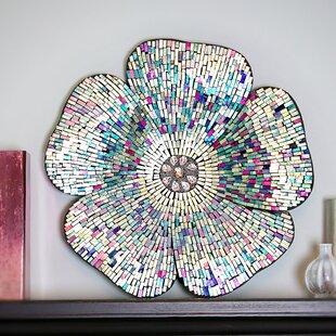 Mosaic Gl Flower Wall Décor