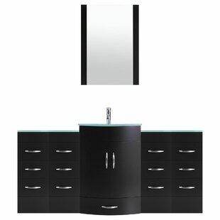 Peterman 72 Single Bathroom Vanity Set with Mirror by Orren Ellis
