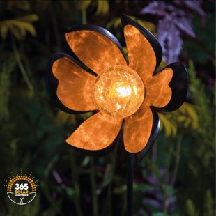 Solar Crackle Ball 1 Light LED Decorative And Accent Lights Image