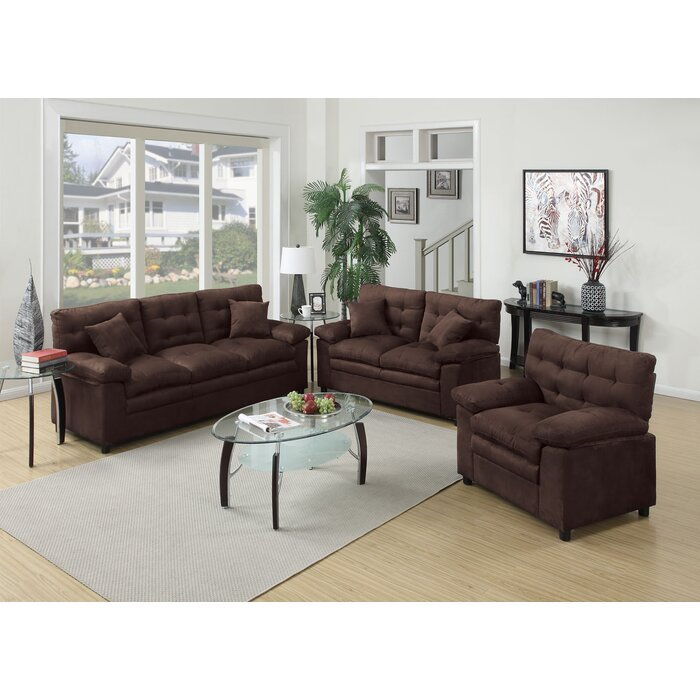 Red Barrel Studio Kingston 3 Piece Living Room Set & Reviews ...