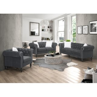 3 Pieces Living Room Set by House of Hampton