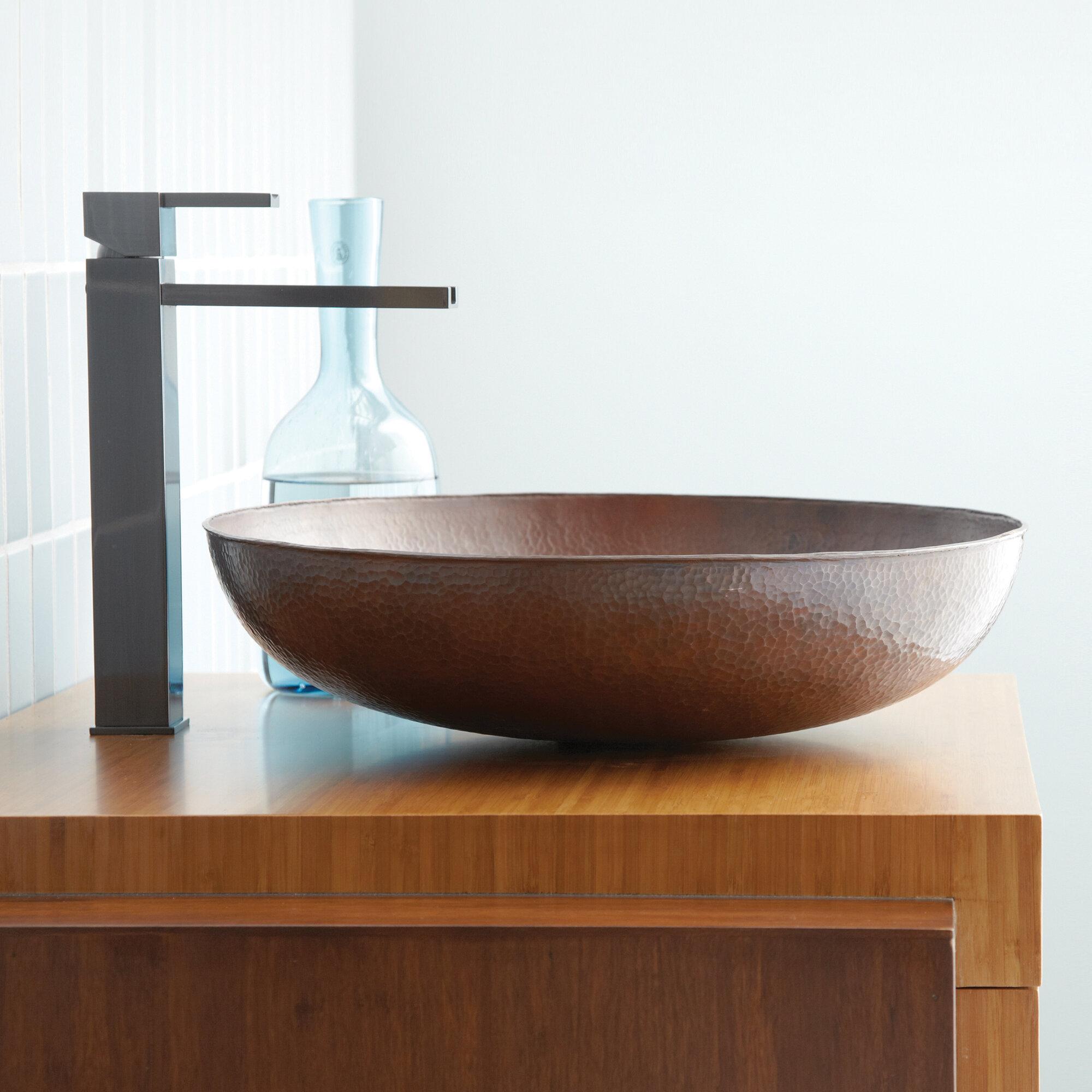 Native Trails Maestro Metal Circular Vessel Bathroom Sink Reviews Wayfair
