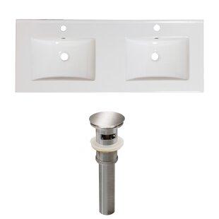 Find Xena Ceramic 59 Double Bathroom Vanity Top ByRoyal Purple Bath Kitchen