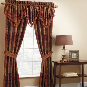 galleria pole top drapery rod pocket curtain panels set of 2