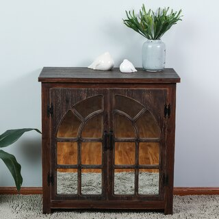 Andres Mirror Console 2 DoorAccent Cabinet by Millwood Pines SKU:EB828714 Buy