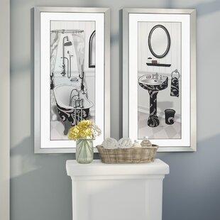 Venetian Tub 2 Piece Framed Painting Set