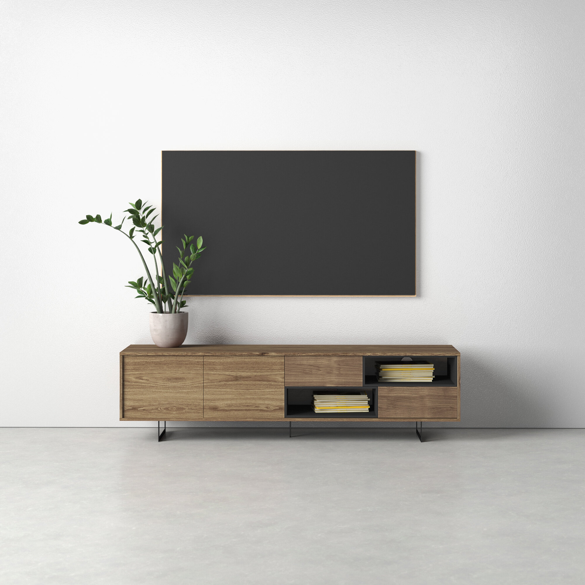 Allmodern Mulkey Tv Stand For Tvs Up To 78 Reviews Wayfair
