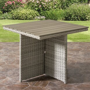 Killingworth Weather Resistant Resin Wicker Patio Dining Table